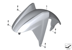 Goto diagram: BMW Classic Motorrad Modell C evolution (0C23)( USA ), Category 46.61 Front-wheel cover :: Diagram: 46_1642