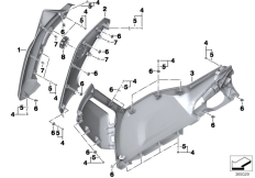 Goto diagram: BMW Classic Motorrad Modell C evolution (0C23)( USA ), Category 46.63 Fairing side section, front :: Diagram: 46_1650