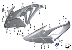 Goto diagram: BMW Classic Motorbike Model S 1000 RR 17 (0D50, 0D60)( ECE ), Category 46.63 Fairing side section, front :: Diagram: 46_1655