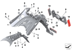 Goto diagram: BMW Classic Motorrad Modell R 1200 R (0A04, 0A14)( ECE ), Category 46.62 Licence plate holder :: Diagram: 46_1689