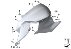 Goto diagram: BMW Classic Motorbike Model F 800 R 15 (0B34)( THA ), Category 46.63 Fairing side section, front :: Diagram: 46_1698