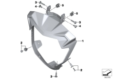 Goto diagram: BMW Classic Motorbike Model F 800 R 15 (0B34)( THA ), Category 46.63 Headlight cover :: Diagram: 46_1704