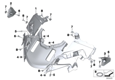 Goto diagram: BMW Classic Motorrad Modell R 1200 RT (0A03, 0A13)( USA ), Category 46.63 Fairing top section, authority vehicle :: Diagram: 46_1716