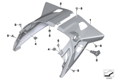 Goto diagram: BMW Classic Motorrad Modell R 1200 RT (0A03, 0A13)( USA ), Category 46.63 TAIL TRIM :: Diagram: 46_1718