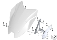Goto diagram: BMW Classic Motorrad Modell R 1200 RS (0A05, 0A15)( USA ), Category 46.63 Windshield / mounting :: Diagram: 46_1734