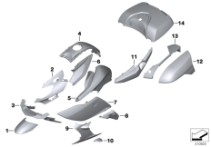 Goto diagram: BMW Classic Motorbike Model K 1600 GTL Excl. (0603, 0613)( USA ), Category 46.63 Primed parts :: Diagram: 46_1749