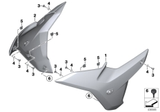 Goto diagram: BMW Classic Motorrad Modell R 1200 RS (0A05, 0A15)( USA ), Category 46.51 Fairing side sections :: Diagram: 46_1751