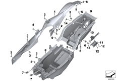 Goto diagram: BMW Classic Motorbike Model S 1000 XR (0D23)( BRA ), Category 46.62 TAIL PART :: Diagram: 46_1773