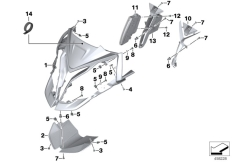Goto diagram: BMW Classic Motorbike Model S 1000 XR (0D23)( BRA ), Category 46.63 FRONT PANEL :: Diagram: 46_1780
