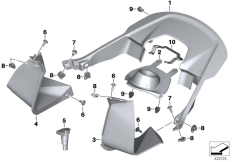 Goto diagram: BMW Classic Motorbike Model S 1000 XR (0D23)( BRA ), Category 46.63 Cover Airbox :: Diagram: 46_1789