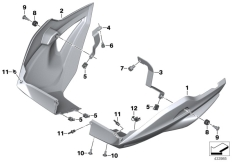 Goto diagram: BMW Classic Motorbike Model S 1000 XR (0D23)( BRA ), Category 46.62 Engine spoiler :: Diagram: 46_1791