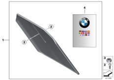 Goto diagram: BMW Classic Motorbike Model F 800 GT (0B03, 0B13)( USA ), Category 46.62 Set of mudguards :: Diagram: 46_1803