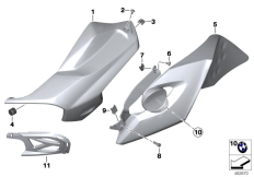 Goto diagram: BMW Classic Motorbike Model K 1300 R (0518,0519)( USA ), Category 46.63 Fairing side section :: Diagram: 46_1808