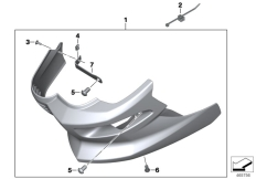 Goto diagram: BMW Classic Motorbike Model F 800 R 15 (0B34)( THA ), Category 46.63 Engine spoiler :: Diagram: 46_1811