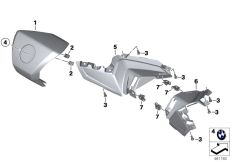 Goto diagram: BMW Classic Motorrad Modell C 650 GT 16 (0C05, 0C15)( ECE ), Category 46.63 Handlebar fairing, middle :: Diagram: 46_1820