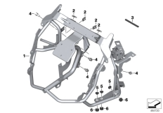Goto diagram: BMW Classic Motorrad Modell C 650 Sport 16 (0C04, 0C14)( USA ), Category 46.63 Clothes holder, front :: Diagram: 46_1830
