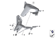 Goto diagram: BMW Classic Motorrad Modell C 650 Sport 16 (0C04, 0C14)( USA ), Category 46.63 Handlebar cover, middle :: Diagram: 46_1832