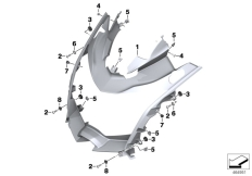 Goto diagram: BMW Classic Motorrad Modell C 650 GT 16 (0C05, 0C15)( ECE ), Category 46.63 Headlight bracket :: Diagram: 46_1834
