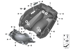 Goto diagram: BMW Classic Motorrad Modell C 650 GT 16 (0C05, 0C15)( ECE ), Category 46.63 Luggage compartment floor :: Diagram: 46_1838