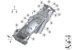 Goto diagram: BMW Classic Motorbike Model K 1600 GTL 17 (0F02, 0F12)( USA ), Category 46.62 Rear carrier part :: Diagram: 46_1845