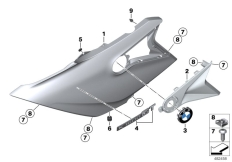 Goto diagram: BMW Classic Motorbike Model K 1600 GT 17 (0F01, 0F11)( USA ), Category 46.63 Fairing side section, front :: Diagram: 46_1850