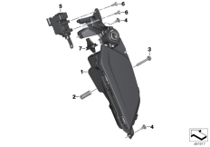 Goto diagram: BMW Classic Motorbike Model K 1600 Bagger (0F51, 0F53)( USA ), Category 46.63 Storage compartment, audio system :: Diagram: 46_1853