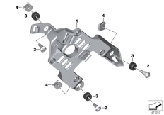 Goto diagram: BMW Classic Motorrad Modell G 310 GS (0G22)( BRA ), Category 46.63 Bracket, control unit :: Diagram: 46_1862