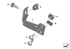 Goto diagram: BMW Classic Motorrad Modell G 310 GS (0G02, 0G12)( USA ), Category 46.63 Clothes holder, right :: Diagram: 46_1864