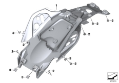 Goto diagram: BMW Classic Motorrad Modell G 310 R (0G01, 0G11)( ECE ), Category 46.63 Tail bottom section :: Diagram: 46_1867