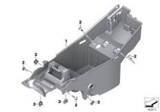 Goto diagram: BMW Classic Motorrad Modell G 310 GS (0G02, 0G12)( USA ), Category 46.63 BATTERY TRAY :: Diagram: 46_1869