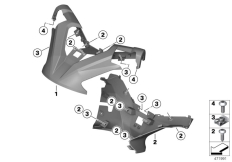 Goto diagram: BMW Classic Motorrad Modell C 650 GT 16 (0C05, 0C15)( ECE ), Category 46.63 Handlebar fairing :: Diagram: 46_1871