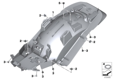 Goto diagram: BMW Classic Motorrad Modell R 1200 RT (0A03, 0A13)( USA ), Category 46.62 Rear-wheel cover, rear :: Diagram: 46_1876