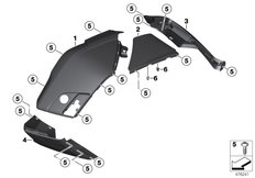 Goto diagram: BMW Classic Motorrad Modell K 1600 Bagger (0F51, 0F53)( USA ), Category 46.54 Trim panels case floor :: Diagram: 46_1905