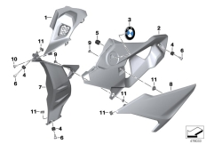 Goto diagram: BMW Classic Motorbike Model S 1000 R 17 (0D72)( BRA ), Category 46.62 Fairing side section, front :: Diagram: 46_1928