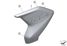Goto diagram: BMW Classic Motorrad Modell R 1200 GS 17 (0A51, 0A61)( USA ), Category 46.63 Radiator trim :: Diagram: 46_1955