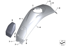 Goto diagram: BMW Classic Motorrad Modell R 1200 GS 17 (0A51, 0A61)( USA ), Category 46.63 Tank cover, middle :: Diagram: 46_1958