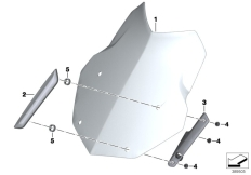 Goto diagram: BMW Classic Motorrad Modell R 1200 GS 17 (0A51, 0A61)( USA ), Category 46.63 Windshield / mounting :: Diagram: 46_1960