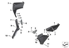 Goto diagram: BMW Classic Motorrad Modell K 1600 Bagger (0F51, 0F53)( USA ), Category 46.63 Cover frame :: Diagram: 46_1990