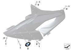 Goto diagram: BMW Classic Motorrad Modell HP4Race (0E31, 0E33)( ECE ), Category 46.63 Fairing side section :: Diagram: 46_2019