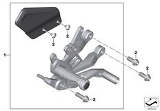 Goto diagram: BMW Classic Motorrad Modell HP4Race (0E31, 0E33)( ECE ), Category 46.51 Footrest system, right :: Diagram: 46_2026