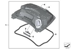 Goto diagram: BMW Classic Motorrad Modell K 1600 Bagger (0F51, 0F53)( USA ), Category 46.54 Topcase lid :: Diagram: 46_2030