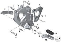 Goto diagram: BMW Classic Motorbike Model F 850 GS (0B29)( BRA ), Category 46.71 Footrest plate/footrest front left :: Diagram: 46_2040