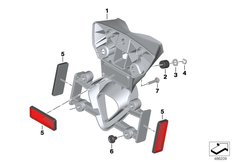 Goto diagram: BMW Classic Motorrad Modell G 310 GS (0G02, 0G12)( USA ), Category 46.62 License plate adapter US :: Diagram: 46_2048