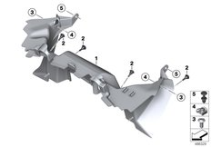 Goto diagram: BMW Classic Motorbike Model F 850 GS (0B29)( BRA ), Category 46.63 Exhaust air duct :: Diagram: 46_2057