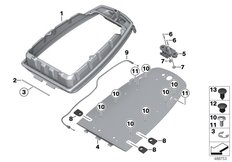 Goto diagram: BMW Classic Motorrad Modell F 750 GS (0B08, 0B18)( USA ), Category 46.63 Carrier plate, radio transceivers :: Diagram: 46_2081