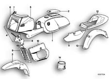 Goto diagram: BMW Classic Motorbike Model R 100 RS( ECE ), Category 51.20 PAINTED PARTS 635 BRILLANTSILBER :: Diagram: 51_0047