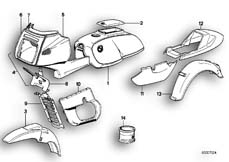 Goto diagram: BMW Classic Motorbike Model R 100 RS( ECE ), Category 51.20 PAINTED PARTS 667 STRATOSGRAU :: Diagram: 51_0054