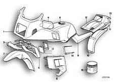 Goto diagram: BMW Classic Motorbike Model K 100 LT 87 (0506,0516)( ECE ), Category 51.20 PAINTED PARTS 675 ROT :: Diagram: 51_0071