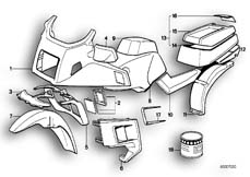 Goto diagram: BMW Classic Motorbike Model K 100 LT 87 (0506,0516)( ECE ), Category 51.20 PAINTED PARTS 608 AVUSSCHWARZ :: Diagram: 51_0078