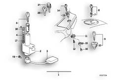 Goto diagram: BMW Classic Motorbike Model K 1100 LT (0526, 0536)( ECE ), Category 51.25 SET OF LOCKS :: Diagram: 51_0091